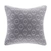 Madison Park Snowflake Knit Square Pillow