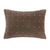 Madison Park Quilted Stitch Velvet Oblong Pillow
