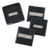 "<strong>Royce Leather</strong> 3"" Engraved Plate Square Coasters in Black"