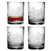 Susquehanna Glass 14 Oz. Bicycle Rocks Glass (Set of 4)