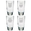Susquehanna Glass 18 Oz. Owl Assortment Glass (Set of 4)