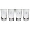 <strong>Susquehanna Glass</strong> 4 Piece Counting Hiball Glass Set