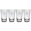 Susquehanna Glass Counting Hiball Glass Set (Set of 4)