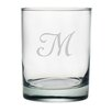 <strong>Susquehanna Glass</strong> Script Monogrammed Double Rock Glass (Set of 4)