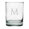 <strong>Susquehanna Glass</strong> Block Monogrammed Double Rock Glass (Set of 4)