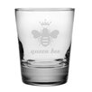Susquehanna Glass Queen Bee Double Old Fashioned Glass (Set of 4)