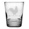 <strong>Susquehanna Glass</strong> Rooster Double Old Fashioned Glass (Set of 4)