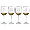 <strong>Susquehanna Glass</strong> 4 Piece Counting All Purpose Wine Glass Set