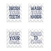Stupell Industries Bathroom Rules Chevron 4 Piece Textual Plaque Set