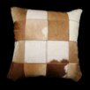 <strong>Hallmart Collectibles</strong> Safari Large Patchwork Genuine Leather Pillow