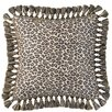 <strong>Jennifer Taylor</strong> Espresso Synthetic Pillow with Tassel Fringe