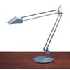 "Humanscale Diffrient Double Arm 36"" H Table Lamp with Drum Shade"