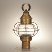 Northeast Lantern Onion 18.5' Medium Base Socket Caged Round Post Lantern