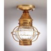 Northeast Lantern Onion Socket Caged Semi Flush Mount