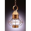 <strong>Northeast Lantern</strong> Onion Medium Base Socket Caged 1 Light Hanging Lantern
