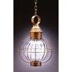Northeast Lantern Onion Medium Base Sockets Caged Round 1 Light Hanging Lantern