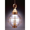 <strong>Northeast Lantern</strong> Onion Candelabra Sockets Large Caged 3 Light Hanging Lantern