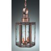 <strong>Northeast Lantern</strong> Hardwick Candelabra Sockets Hexagon 2 Light Hanging Lantern with Galley