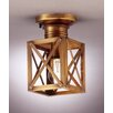 "<strong>Northeast Lantern</strong> Suffolk 9"" 1 Light Semi Flush Mount"