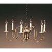 Northeast Lantern Chandelier 6 Light Candelabra Sockets Hanging Bell Body S-Arms Chandelier