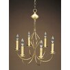 <strong>Northeast Lantern</strong> Chandelier 6 Light Candelabra Sockets Center Bulge J-Arms Hanging Chandelier