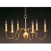 <strong>Northeast Lantern</strong> Chandelier 6 Light Candelabra Sockets S-Arms Hanging Chandelier