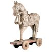 <strong>Barreveld International</strong> Wood Horse Pull Toy with Rope Statue