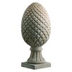 <strong>Barreveld International</strong> Pineapple Mango Wood Finial Statue