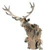 <strong>Barreveld International</strong> Cast Iron Mounted Buck Head Statue