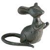 Barreveld International Iron Mouse Hands Raised Figurine (Set of 2)