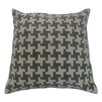 Barreveld International Fall Textile Square Houndstooth Pillow