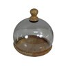 Barreveld International Fall Wood and Glass Orb Cloche
