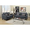 Poundex Bobkona Connell Sofa and Loveseat Set