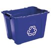 <strong>Rubbermaid Commercial Products</strong> Stacking Rectangular 14 Gallon Curbside Recycling Bin