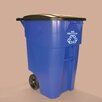 <strong>Rubbermaid Commercial Products</strong> Brute Rollout 50 Gallon Industrial Recycling Bin