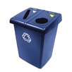 Rubbermaid Commercial Products Glutton 46 Gallon Multi Compartment Recycling Bin