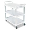 Open Sided Utility Cart, 3-Shelf