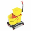 Rubbermaid Commercial Products Commercial Wavebrake 35-qt. Dual Water Side Press Mop Bucket and Wringer