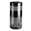 <strong>Rubbermaid Commercial Products</strong> Open Top Receptacle, Round, Steel, 28 gal, Black