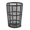 Rubbermaid Commercial Products Steel Street Basket Waste Round Receptacle