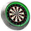 "<strong>Dart Board 14.75"" Neon Wall Clock</strong> by On The Edge Marketing"