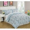 Luxury Home Bird on Branch 8 Piece Bed in a Bag Set