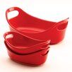 Rachael Ray Bubble and Brown Bakeware 3 Piece Oval Baker Set