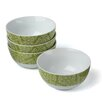 Rachael Ray Curly-Q Green 18 oz. Cereal Bowl (Set of 4)