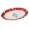 Hoot's Decorated Tree Oval Platter