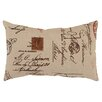 <strong>Pillow Perfect</strong> French Postale Rectangular Throw Pillow