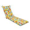Pillow Perfect Paint Splash Chaise Lounge Cushion