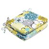 Pillow Perfect Floral Fantasy Seat Cushion (Set of 2)