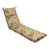Pillow Perfect Botanical Glow Tiger Stripe Chaise Lounge Cushion