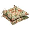 <strong>Pillow Perfect</strong> Botanical Glow Tiger Stripe Wrought iron Seat Cushion (Set of 2)